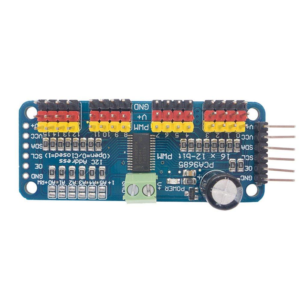 iHaospace pca9685/16/canaux 12/bits PWM Servo Driver for Arduino Raspberry Pi IIC Interface Servo Shield 1 x PCA9685