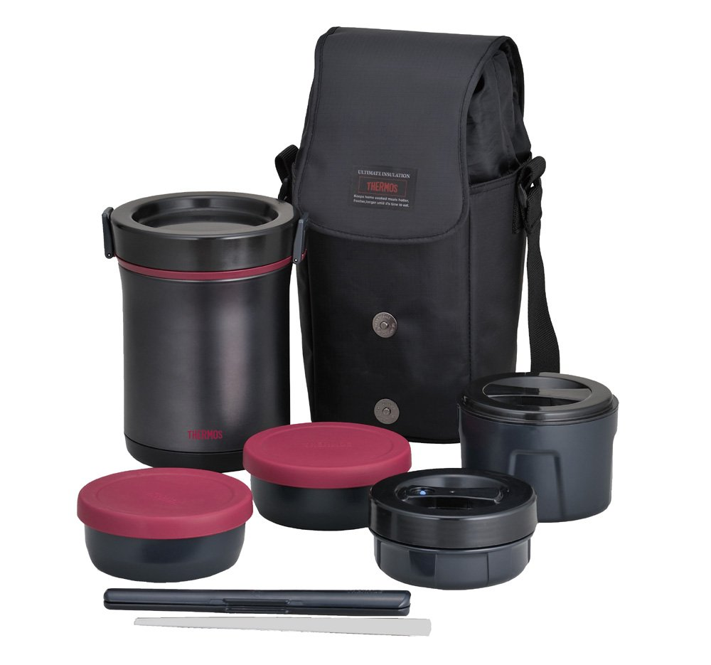 THERMOS Hot Lunch Heat-Retention Lunch/Bento Box Set JBE-1600F by Thermos