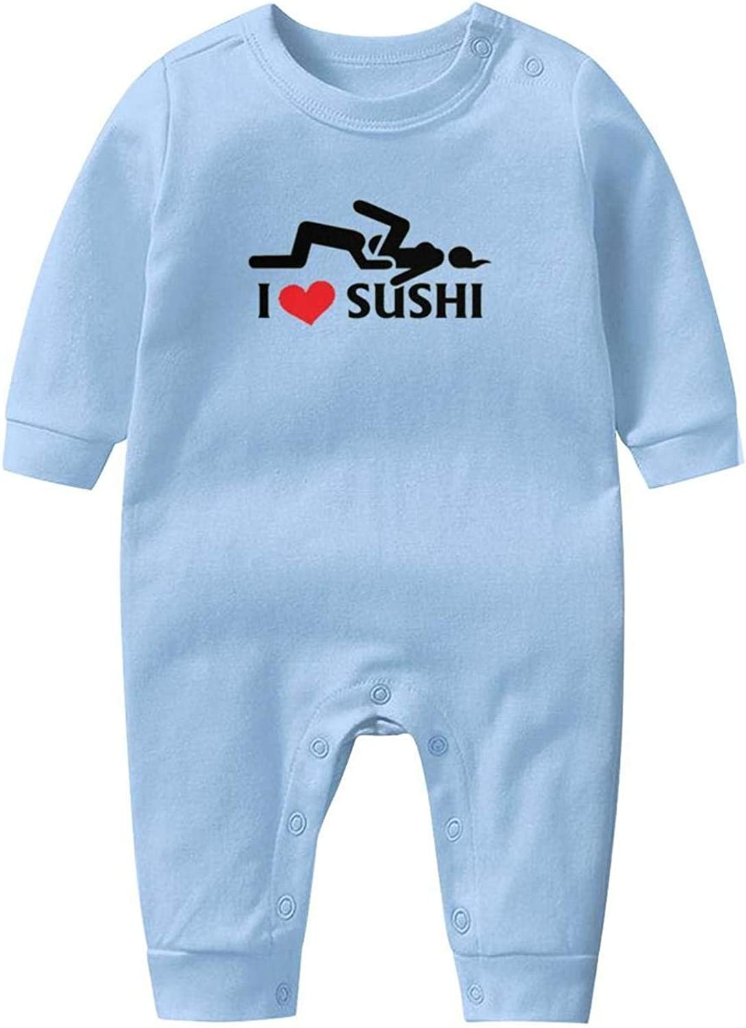 Sushi Pop L Love Shushi Baby Boys Girls Long Sleeve Baby Onesie Cute Baby Clothes