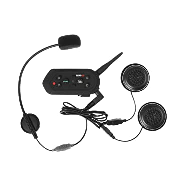 Aokland Bluetooth Casco Interphone, inalámbrico Moto Casco de la motocicleta Intercom Auricular con micrófono