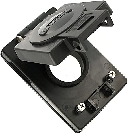 15A Locking//15A Straight Blade Corrosion Resistant Wetguard Black Thermoplastic Leviton 60W03-B 1-Gang Receptacle