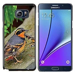 Naturaleza Pájaro Primavera Árboles Verano Naranja- Metal de aluminio y de plástico duro Caja del teléfono - Negro - Samsung Galaxy Note5 / N920