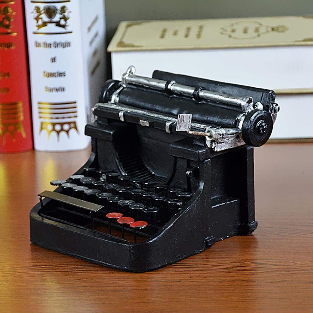 MAFYU Regali di festa Adornos de resina retra decoración de la ventana de la modelo Bar Cafe de máquina de escribir foto apoyos 170 * 190 * 120 m m: ...