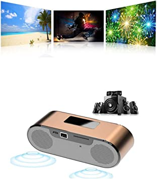 Mini proyector LED DLP Inteligente con Altavoz, Bluetooth, WiFi ...