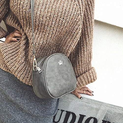 Femmes Noir Mode Cabina Petit Crossbody Sac épaule La à Messenger Retro Cuir Bandoulière PU Sacs 1YHqcxp