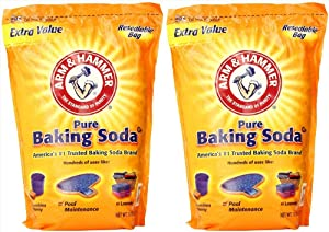 Arm & Hammer 2 x 13.5 Pounds Pure Baking Soda (27 Pounds Total)