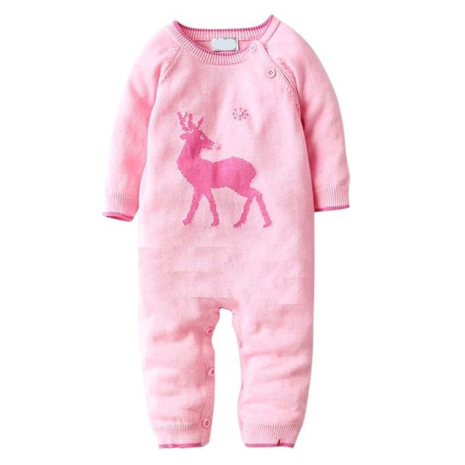 MNBS Navidad peleles bebe invierno Suéter sweater sudaderas niño suéter-Rosa-2A: Amazon.es: Ropa y accesorios