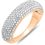 CERTIFIED 0.90 Carat (ctw) 18K Gold Round Diamond Anniversary Wedding Band Ring