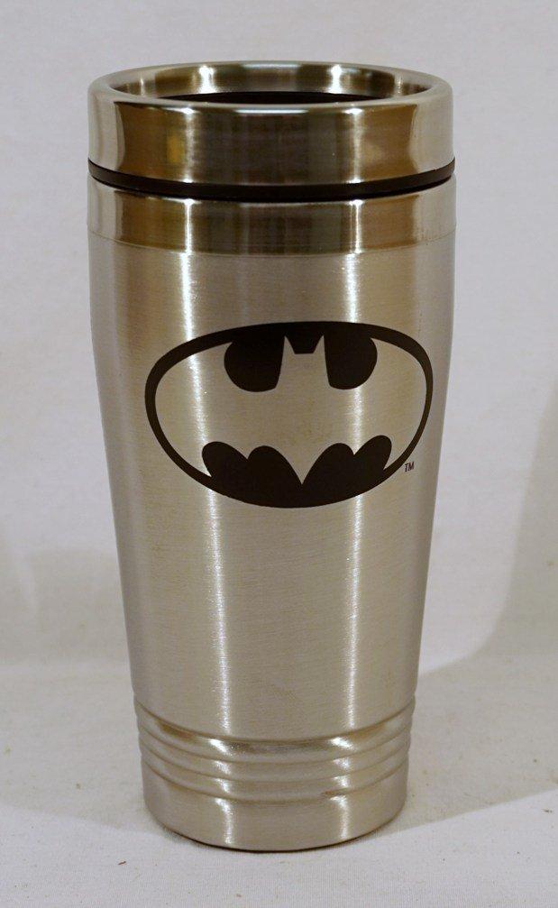 LA Auto Gear Batman Bat Logo Cartoon Superhero DC Comics Movie Stainless Steel Hot or Cold Beverage Travel Mug Tumbler