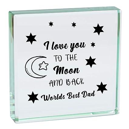 World s Best Dad I Love You a la luna y parte posterior ...