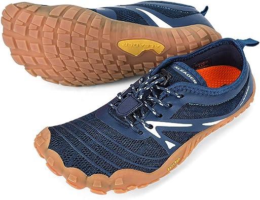 ALEADER - Zapatillas Minimalistas para Correr Descalzos | Puntera Ancha | Zero Drop, Gris (Marino), 36.5/37 EU: Amazon.es: Zapatos y complementos