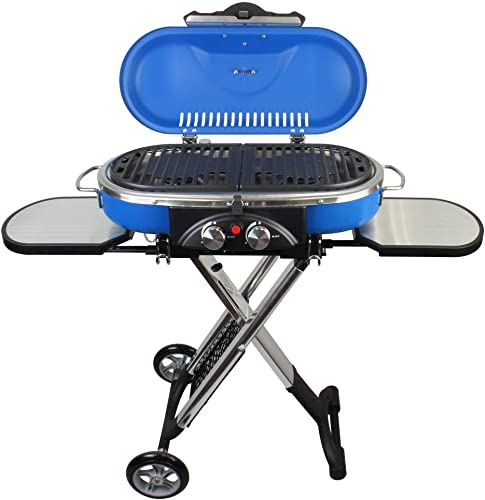 Mototeks, Inc. Portable BBQ Grill Propane Matchless Lighting Foldable CART for Camping Outdoor