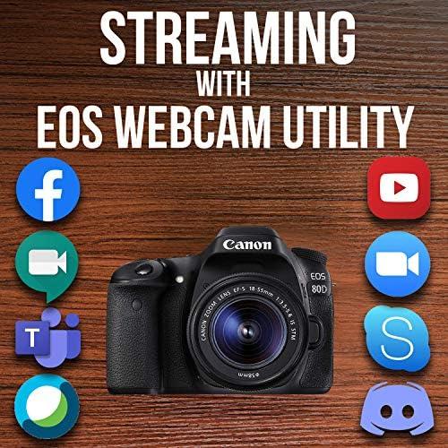 Canon Digital SLR Camera Body [EOS 80D] with EF-S 18-55mm f/3.5-5.6 Image Stabilization STM Lens with 24.2 Megapixel (APS-C) CMOS Sensor and Dual Pixel CMOS AF – Black 61v3WjRzQtL
