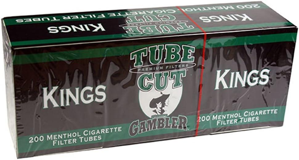 Gambler Tube Cut Menthol King Size RYO Cigarette Tubes