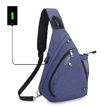 238a4eae5b958 SINOKAL Sling Bag Chest Schulter Rucksack Casual Crossbody Schulter Dreieck  Packs Daypacks für Männer Frauen Canvas