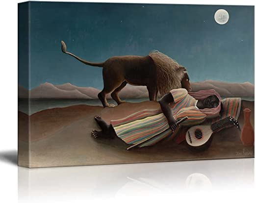 Henri Rousseau The Sleeping Gypsy BOX CANVAS Art Print All Sizes