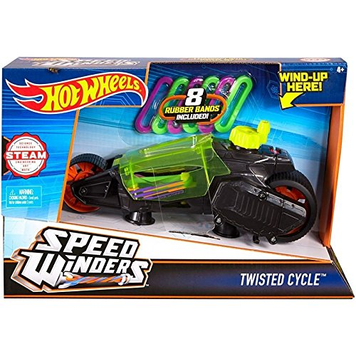 Torque Twister - Hot Wheels Speed Winders Twisted Cycle Vehicle, Yellow