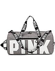 Ativafit Sport Duffels Bag Printing Portable High Capacity Sports Travel  Barrel Shoulder Bag Grey 470ceec87af97