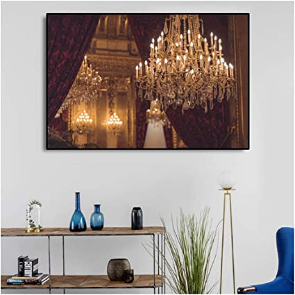 Chandelier Light Up Wall Art Bright Pictures For Home Design Canvas Art Print Painting Posters And Prints Living Room Decoration 60x90cm No Frame Amazon Co Uk Kitchen Home