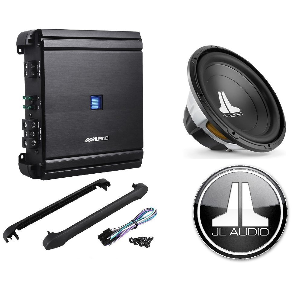 Alpine 500 Watt Rms Class D Mono Car Amplifier Jl 12 Inch Subwoofers Type R Wiring For The 10 Audio 15 W0v3 Series 4 Ohm Subwoofer Electronics
