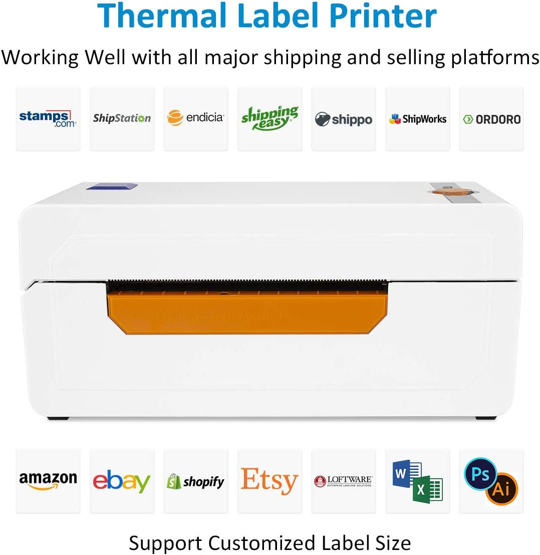 500 // Rolle 1 Rolle 4x 6 Thermo-Direktetiketten perforierte Versandetiketten kompatibel mit NETUM NT-LP110A Desktop-Druckern
