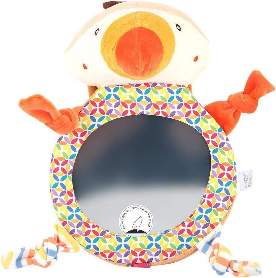 Espejos retrovisores orientados hacia atr/ás para beb/és peque/ños Ni/ños de dibujos animados lindo Asiento trasero del autom/óvil Espejos de vista ajustable y f/ácil de instalar Perrito