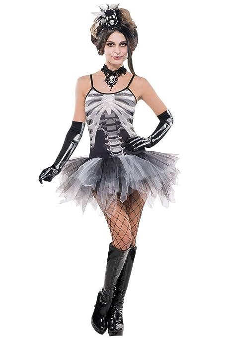Disfraz de esqueleto sexy mujer Halloween - M: Amazon.es ...