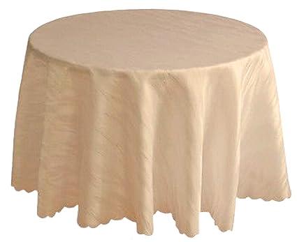 Damasco Mantel Crema Beige No Necesita plancha, diseño de mármol, 120 cm, 135