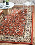 Unique Loom Kashan Collection Terracotta 5 x 8 Area Rug (5' x 8')