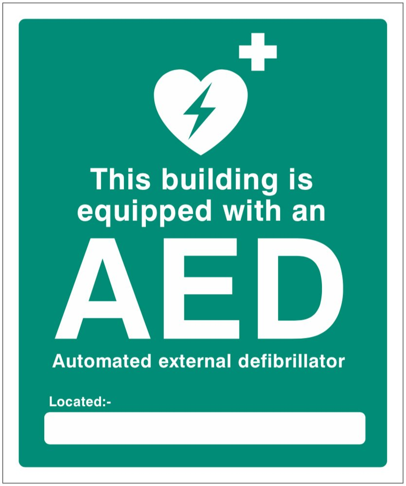 Caledonia Signs 25998h This Building Is Equipped With An Aed Located Buy Online In India At Desertcart 82276664