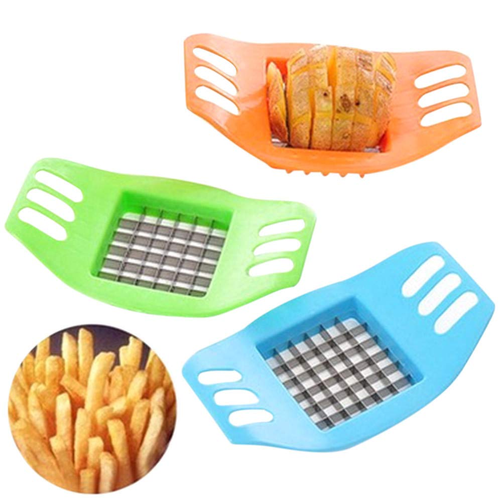 💗 Orcbee 💗 _Vegetable Potato Slicer Cutter Chopper Chips Making Tool Potato Cutting Tool