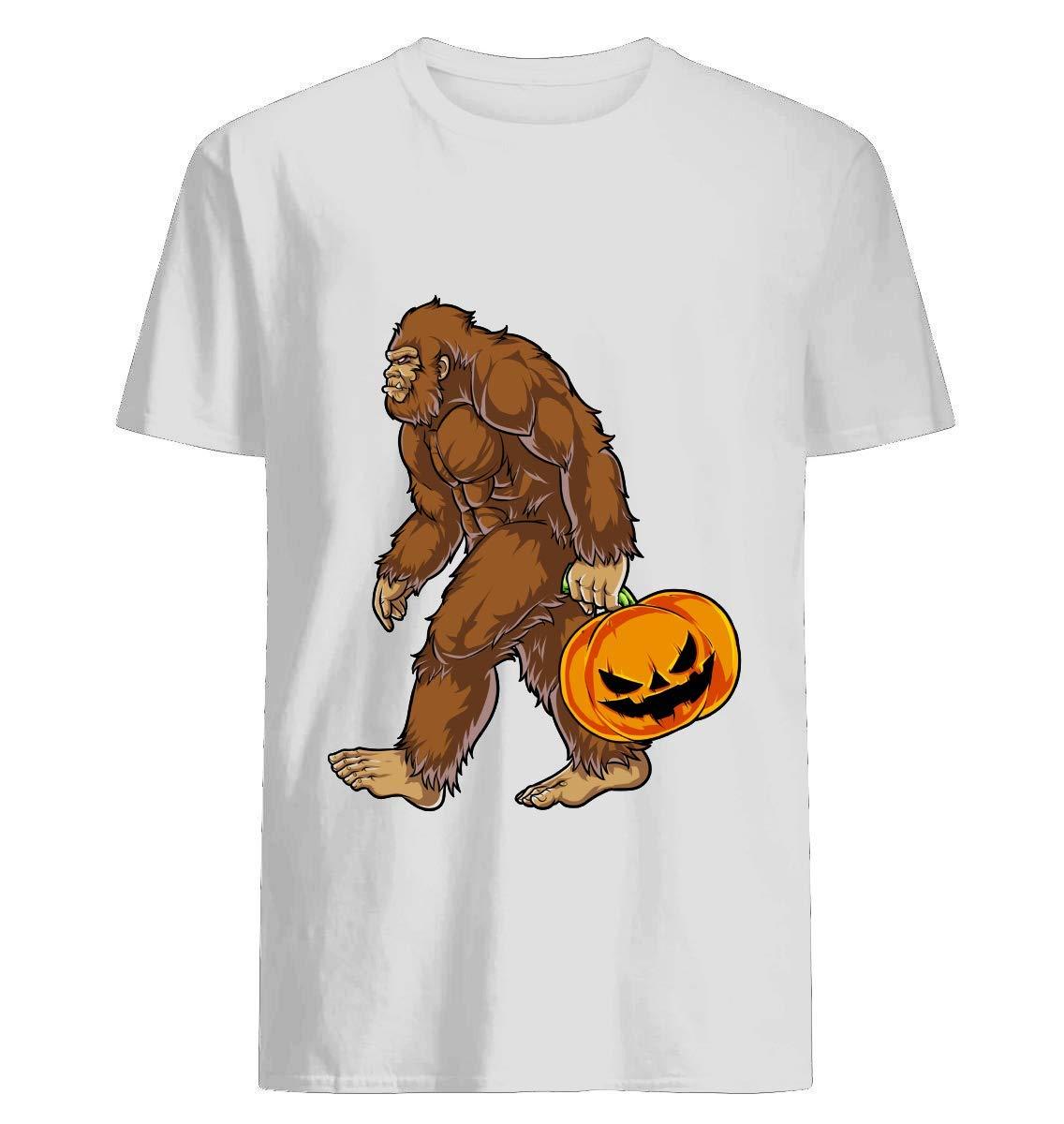 Sasquatch Carrying Scary Pumpkin T Shirt Halloween T Shirt For Un