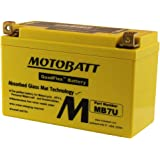 12 Volt 6.7 Ah MotoBatt MB7U Sealed Maintenance Free AGM Battery