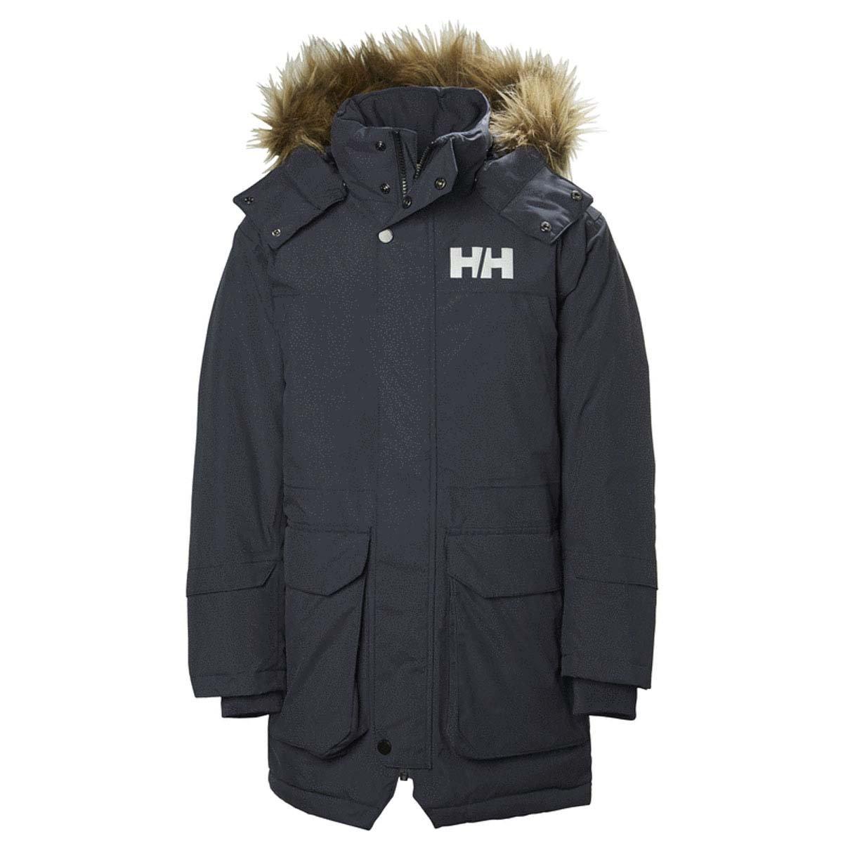 Helly Hansen K Bergen PU Impermeable Conjunto de Chaqueta y Pantalon Unisex ni/ños North Sea Blue 6 YRS