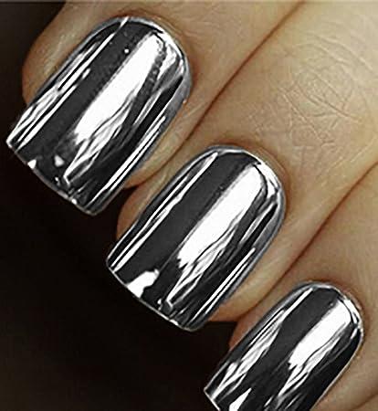 Amazon.com : Minx Nails, Silver Chrome, 0.2 Ounce : Beauty