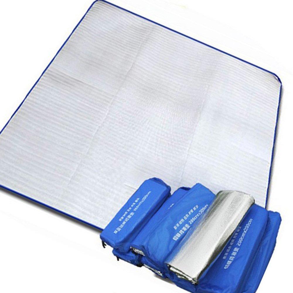 fhong Camping Mat Outdoor Sleeping mattress pad EVA Waterproof Lightweight Picnic Mat Cover Double Side Aluminum Foil Mats for Family Hiking Cushion Yoga Gym