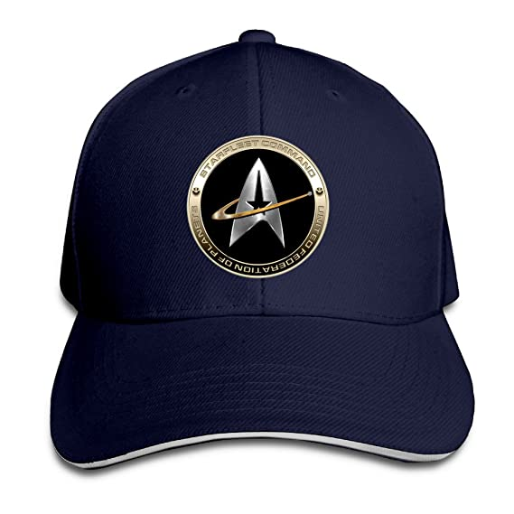 Hittings NEVA Star Trek 50 Adult Baseball Cap Snapback Hats Hip Hop Flat Hat Navy: Amazon.es: Ropa y accesorios