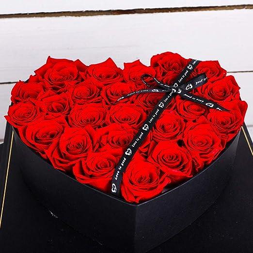 WANG Eterna Flor Rosa San Valentín S Día Navidad Creativo ...