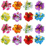 yellow hibiscus hair clip - BBTO 24 Pieces Flower Hair Clips Multicolor Hawaiian Hibiscus Flower Hair Accessories for Girls Women Beach Wedding Party Supplies
