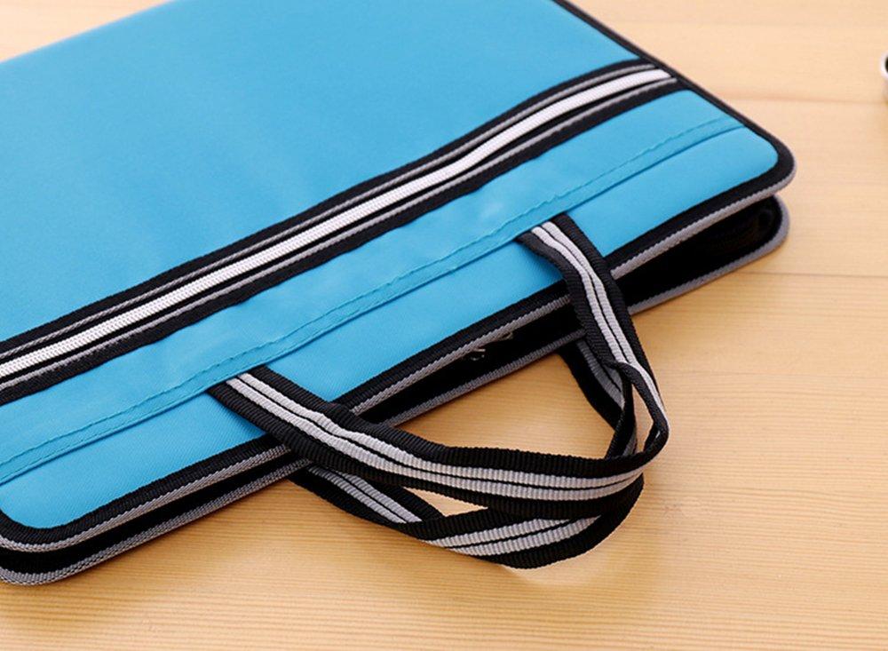 ea3eb9771cc9 Portable 13 Pockets Expandable File Folders Canvas A4 Size Assorted ...