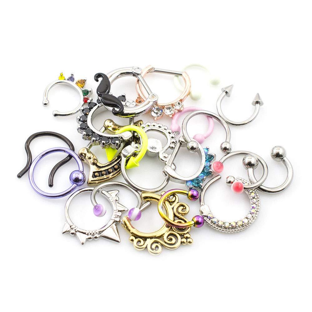 Pack of 12 Septum Jewelry Randomly Picked by BodyJewelryOnline