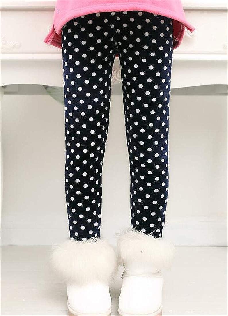 Sweatwater Girl Cute Thicken Printed Trousers Slim Warm Fleece Legging