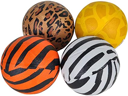 Kicko Assorted Colors Mini Basketball 5 Pack School Activities Perfect for Fun Outdoor Play 5 Inch Miniature-Sized Playground Ball Family Gatherings for Kids and Adults Sports Events