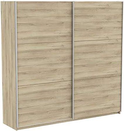 PEGANE - Armario de 2 Puertas correderas, Color Roble Kronberg 228,7 x 223,7 x 64,7 cm: Amazon.es: Hogar