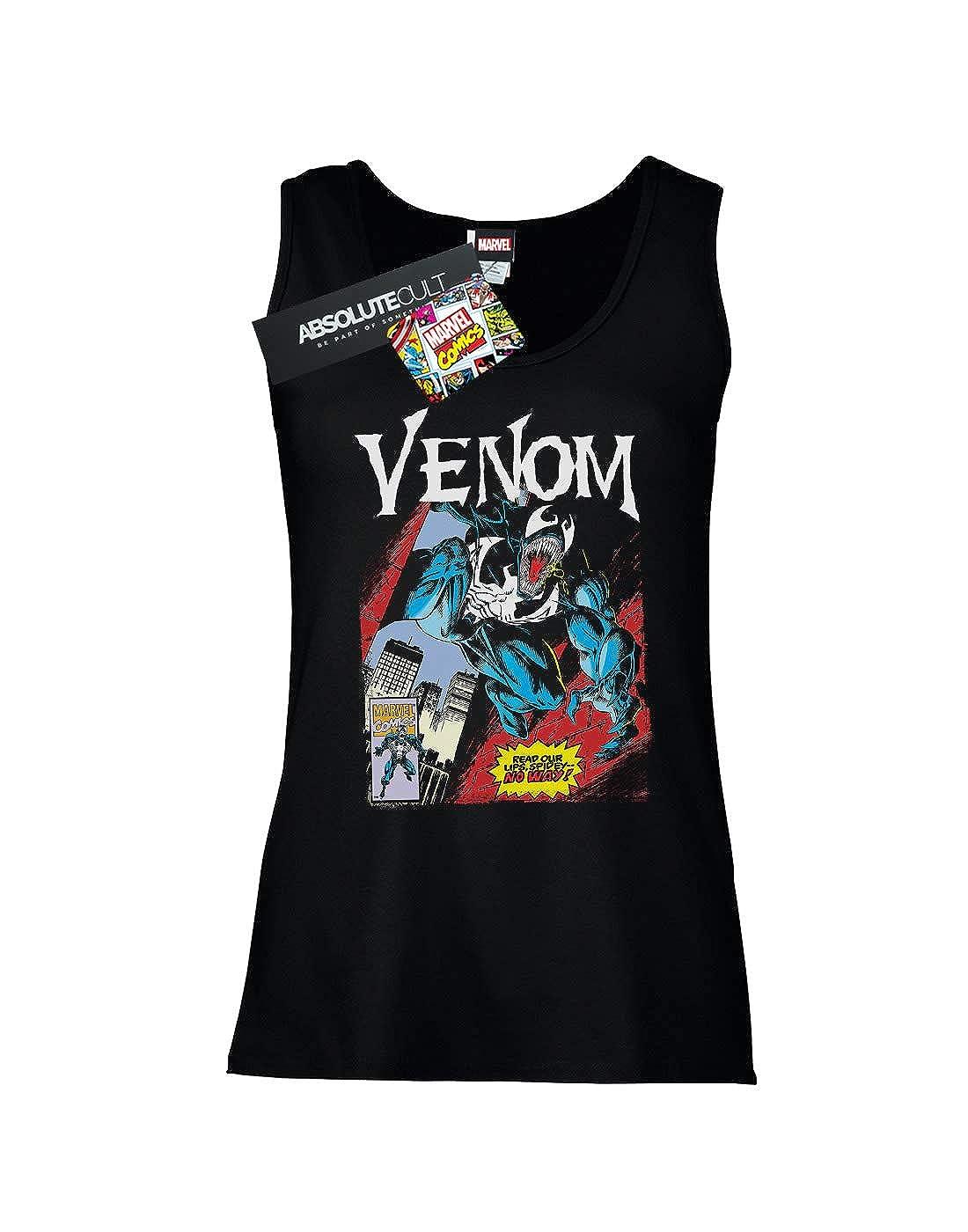 Marvel Mujer Venom Read Our Lips Camiseta Sin Mangas: Amazon.es: Ropa y accesorios