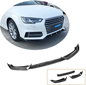 Splitter for S4 S Line Front Chin CARBON  Spoiler Lip For Audi A4 B8 FACELIFT