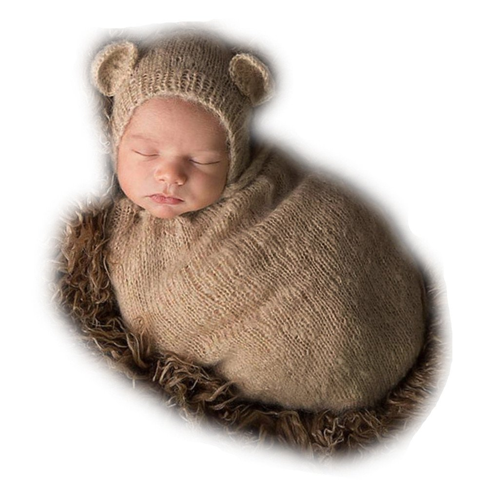 Newborn Baby Photo Props Sleeping Bag Photography Shoot Outfits for Boys Girls Vemonllas JNA-004