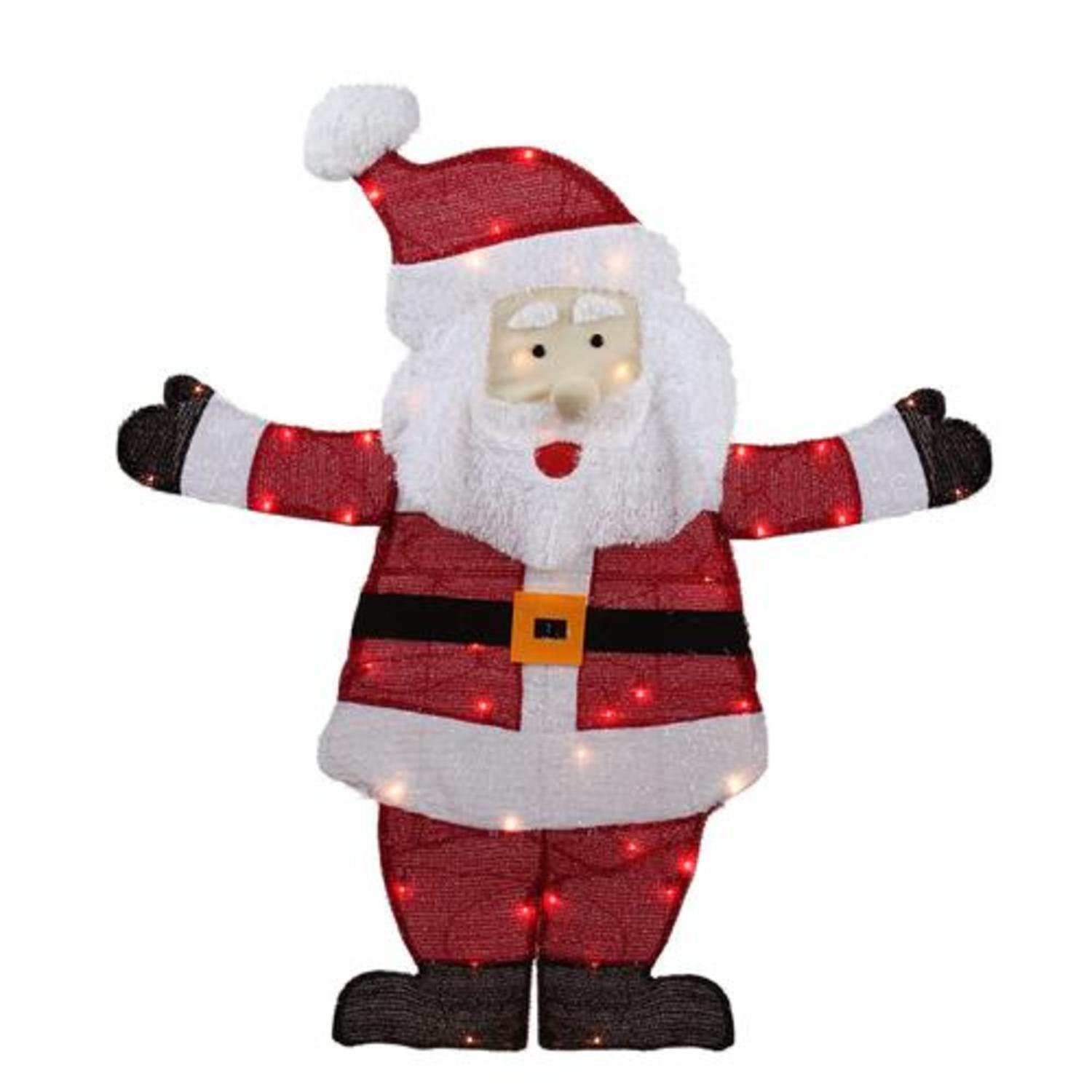 Northlight 42'' Lighted Jolly Santa Claus Outdoor Christmas Decoration - Clear Lights