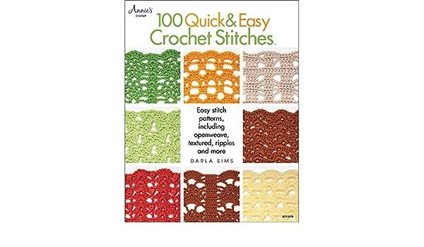 Amazon com: 100 Quick & Easy Crochet Stitches Crochet Book: Arts