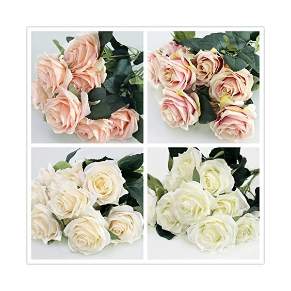 Artificial-Silk-Fake-Flowers-Rose-Floral-Decor-Bouquet-10-Heads-Fake-Flowers-for-Decoration-in-Vase-Silk-Flowers-in-Vase-for-Home-Decor-Dusty-Rose-Silk-Flowers-Bunch-Roses